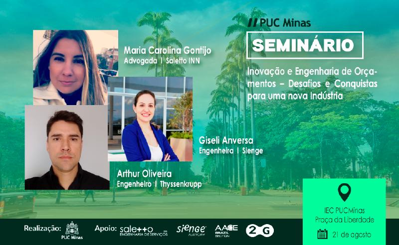 Conexão Seinge- Evento Inovação e Engenharia de Orçamentos PUC Minas