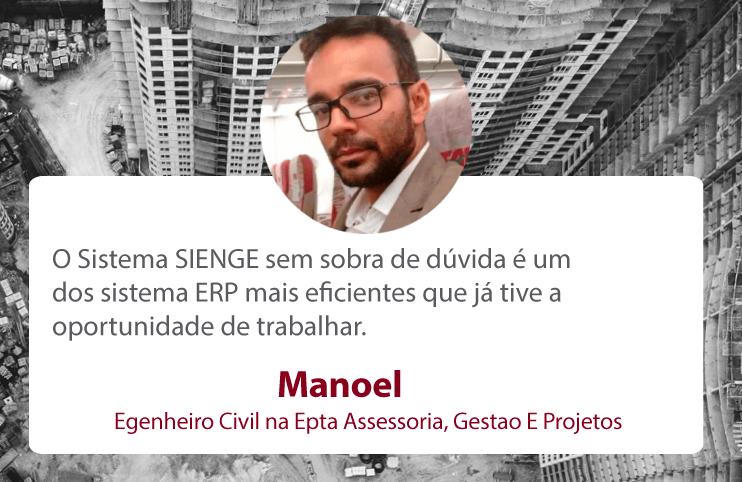 Manoel Salome Egenheiro Civil na Epta Assessoria, Gestao E Projetos