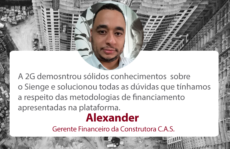 Alexander Rodrigues Gerente Financeiro da Construtora C.A.S.
